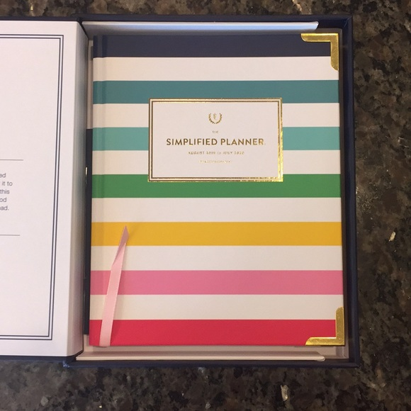 photograph regarding Emily Ley Planner named \u201cHappy Stripe\u201d Simplified Planner by way of Emily Ley NWT